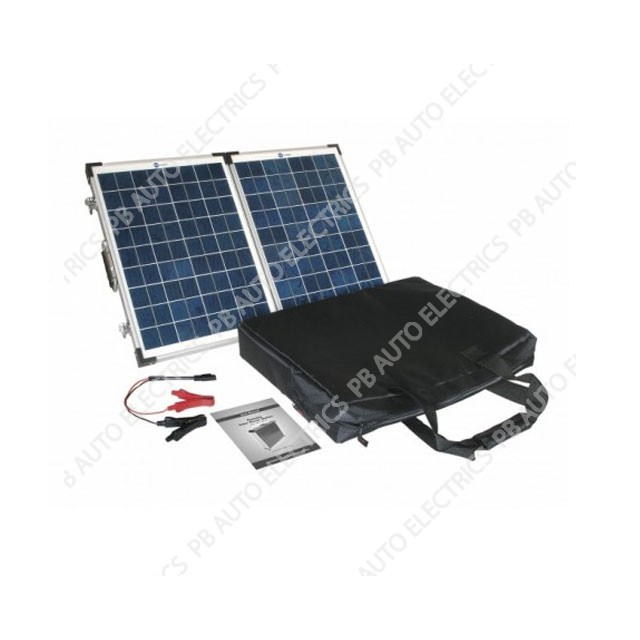 40 Watt PV Logic Folding Solar Panel Briefcase -