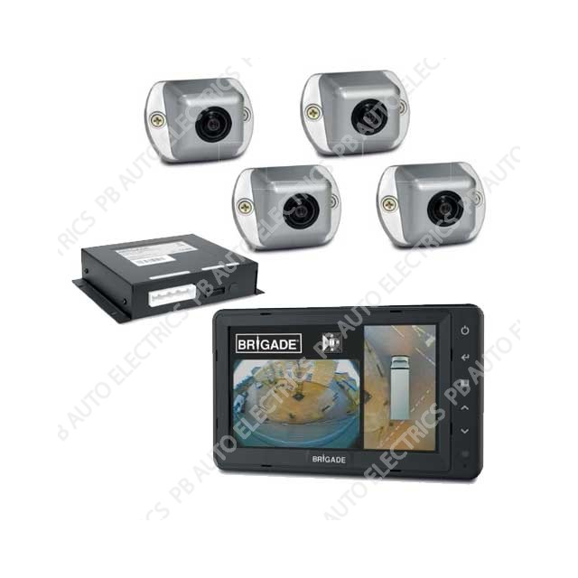 Brigade SE-770-100 Backeye 360 Camera Monitor System For Large Rigid Vehicles SE-770-100 (4804)