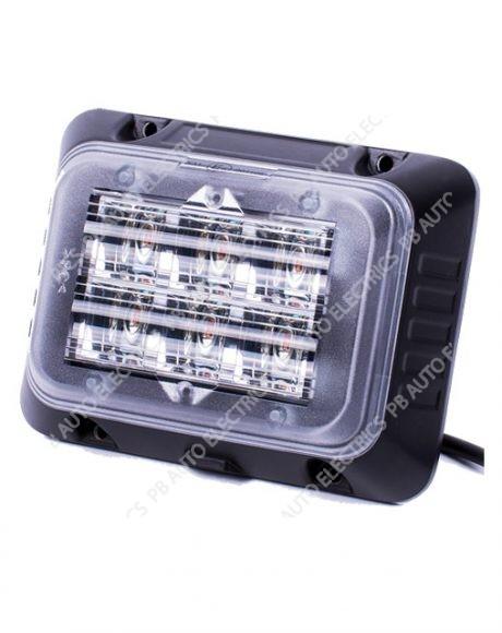 Vision Alert SecuriLED Surface Mount Strobe Amber R65 Quad Flash 12-24v FRONT - 49703202