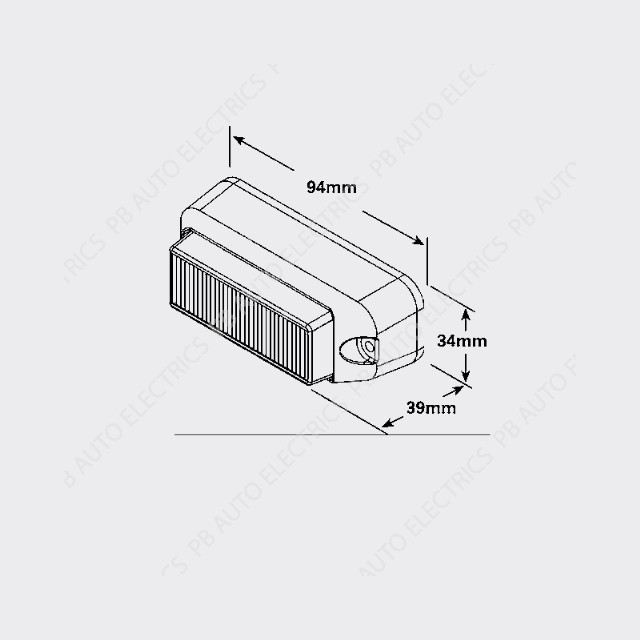 3736 series led surface mount 12  24v directional 2 bolt
