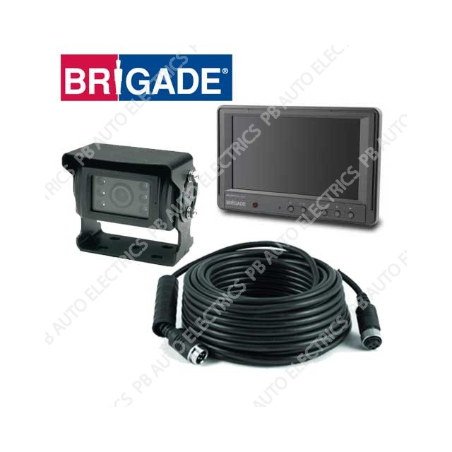 Brigade Elite Single Camera Monitor System For Rigid Vehicles – BE-870L-000 (A3231)