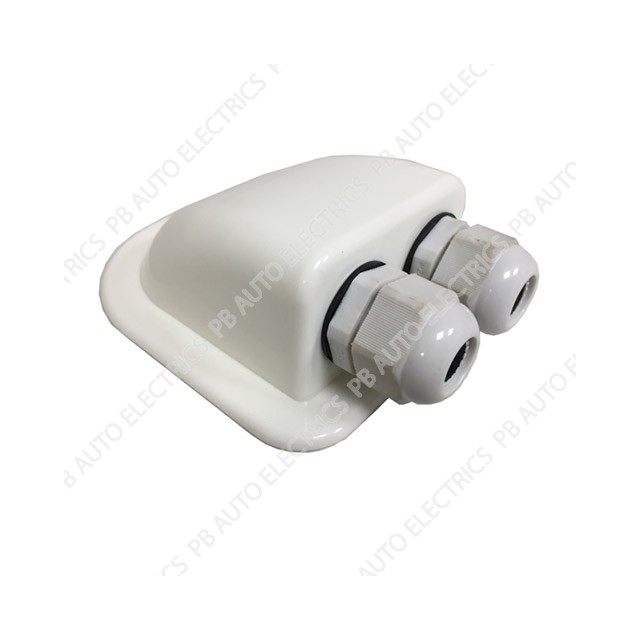 Double Waterproof Cable Feed Gland (White) - STMP005