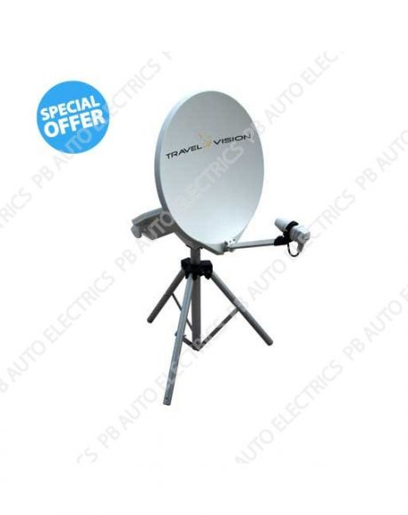 Travel Vision R6 65cm Portable Automatic Satellite System – 35-01-003-0