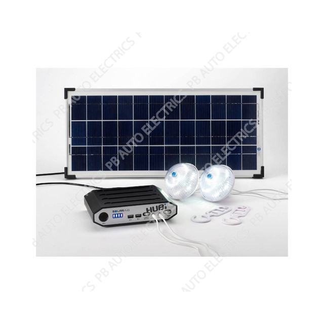HUBi 10K Solar Power & Lighting Kit - HUBi1010A