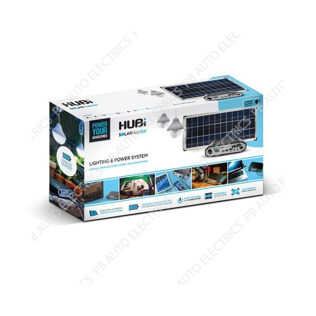 HUBi 10K Solar Power & Lighting Kit box - HUBi1010A