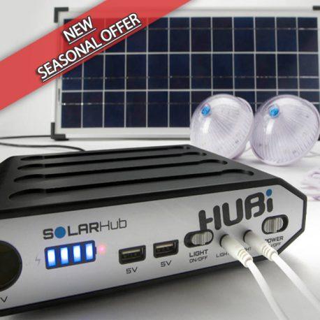 HUBi 10K Solar Power & Lighting System Kit - HUBi1010A*