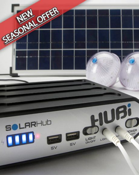 HUBi 10K Solar Power & Lighting System Kit - HUBi1010A*
