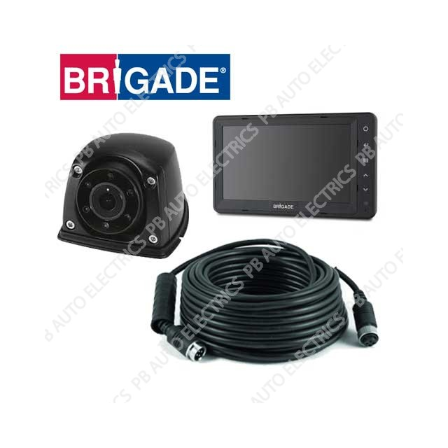 Brigade Single Flush Mount Select Camera Monitor System For Vans - VBV-750-310 (4780)