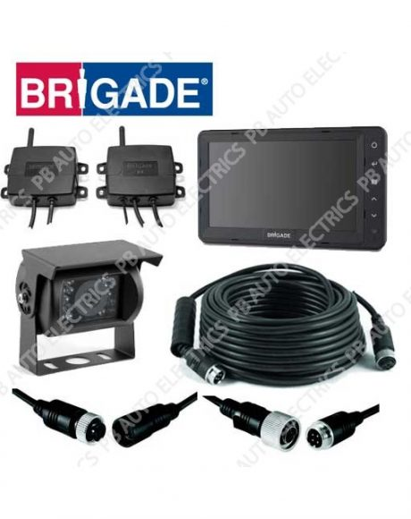 Brigade Single Wireless Select Camera Monitor System For Articulated Vehicles – VBV-770-001DW (4843)
