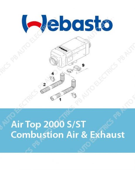 Webasto Air Top 2000 S/ST/STC Combustion Air & Exhaust