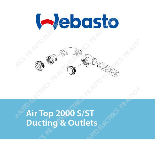 Webasto Air Top 2000 S/ST/STC Ducting & Outlets