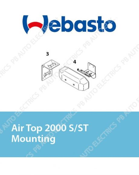 Webasto Air Top 2000 S/ST/STC Mounting