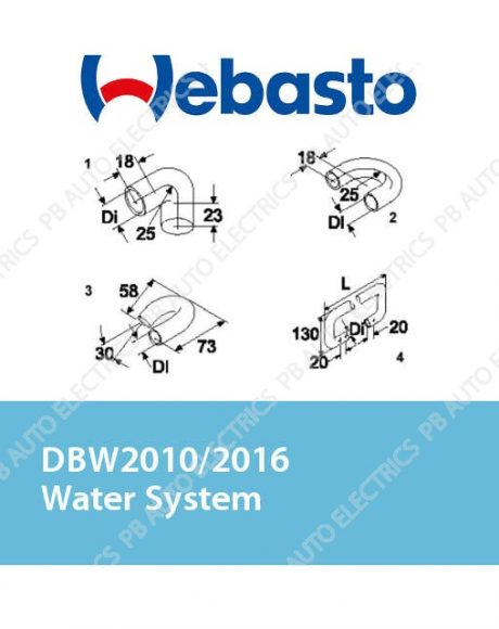 Webasto DBW2010/2016 Water System