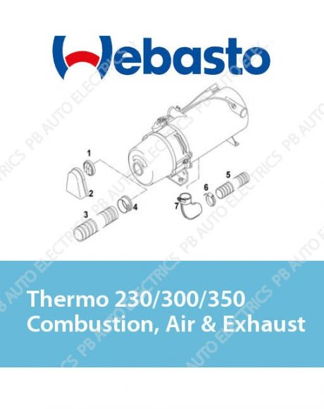 Webasto Thermo 230/300/350 Combustion Air & Exhaust