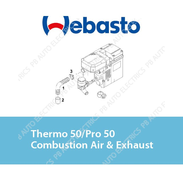 Webasto Thermo 50/Pro 50 Combustion Air & Exhaust
