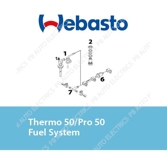 Webasto Thermo 50/Pro 50 Fuel System