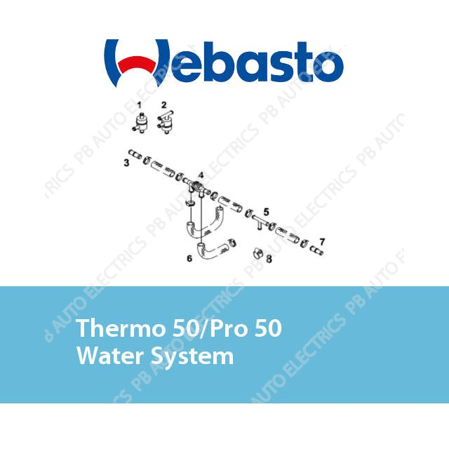 Webasto Thermo 50/Pro 50 Water System