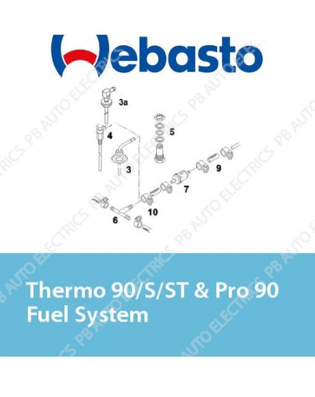 Webasto Thermo 90/S/ST & Pro 90 Fuel System