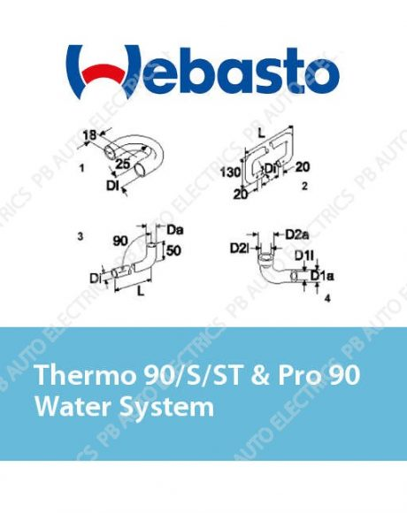 Webasto Thermo 90/S/ST & Pro 90 Water System