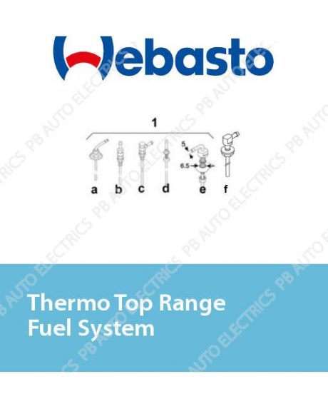 Webasto Thermo Top Range Fuel System