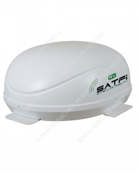 Satfi RV - EU Capable Fully Automatic High Gain Dome with QuadSat - Single LNB - 17-01-004-0