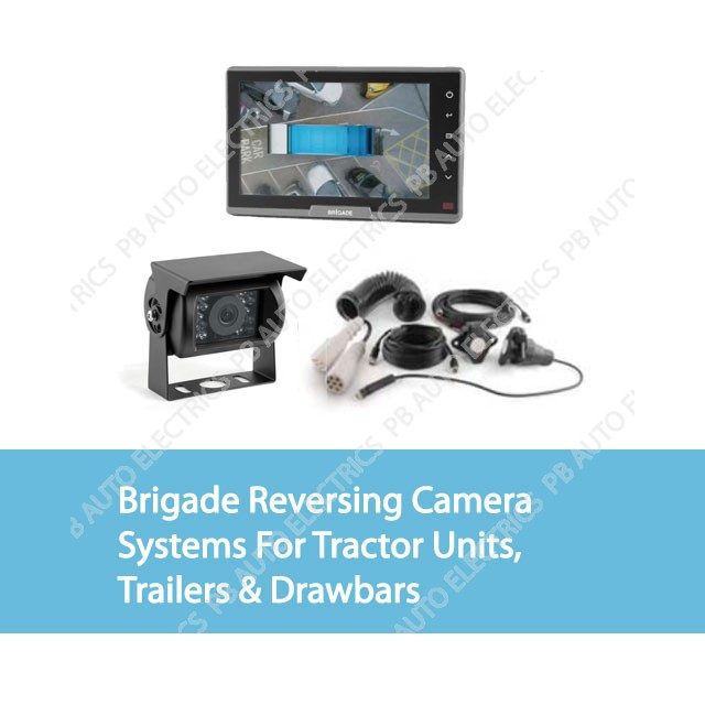 Brigade Reversing Camera Systems For Tractor Units / Trailers & Drawbars