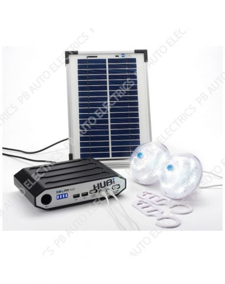 HUBi 2K Solar Power & Lighting Kit - HUBi102A