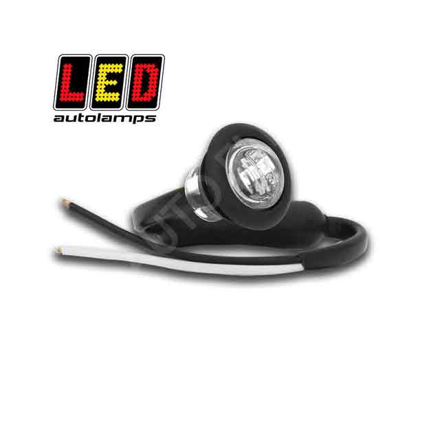 LED Autolamps Round White Marker Lamp 181WME