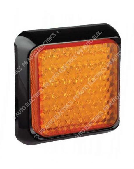 LED Autolamps Square Amber LED Indicator Lamp 12/24v - 80AME