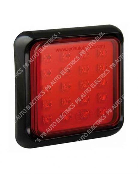 LED Autolamps Square Red Fog LED Lamp/Light 12-24v - 80FME