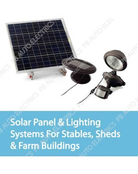 Solar Panel & Lighting Systems For Stables, Sheds & Farm Buildings
