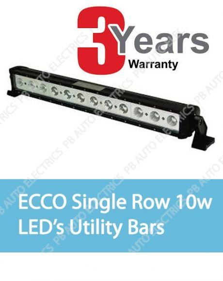 ECCO Single Row 10W LED's Utility Bar
