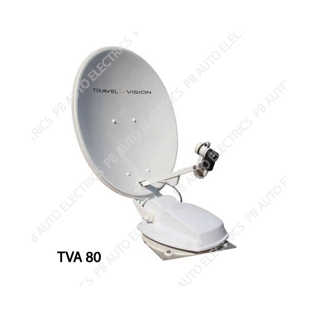 Travel Vision TVA-80cm Twin LNB Auto Skew Fully Automatic Satellite Antenna - 35-01-027-0