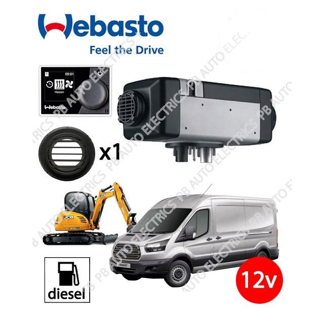 Webasto Air Top 2000 STC 12v Universal Heater Kit Diesel NEW Multi Control HD Timer & 1 Outlet Kit – 4111385C/MC/1