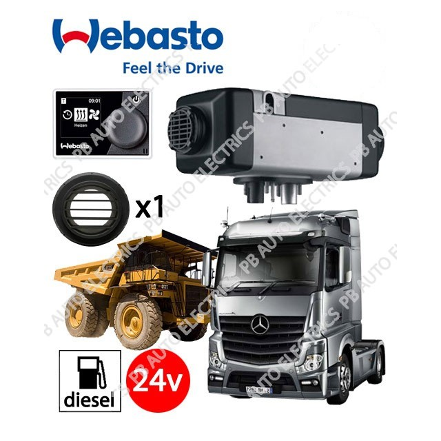 Webasto Air Top 2000 STC 24v Universal Heater Kit Diesel Multi Control & 1 Outlet Ducting Kit - 4111386B-MC-1