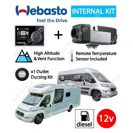 Webasto Air Top 2000 STC Motorhome RV Air Heater Diesel 12v RV MultiControl Internal Mount Kit & 1 Outlet Ducting Kit - 4114762C/RVMC/1
