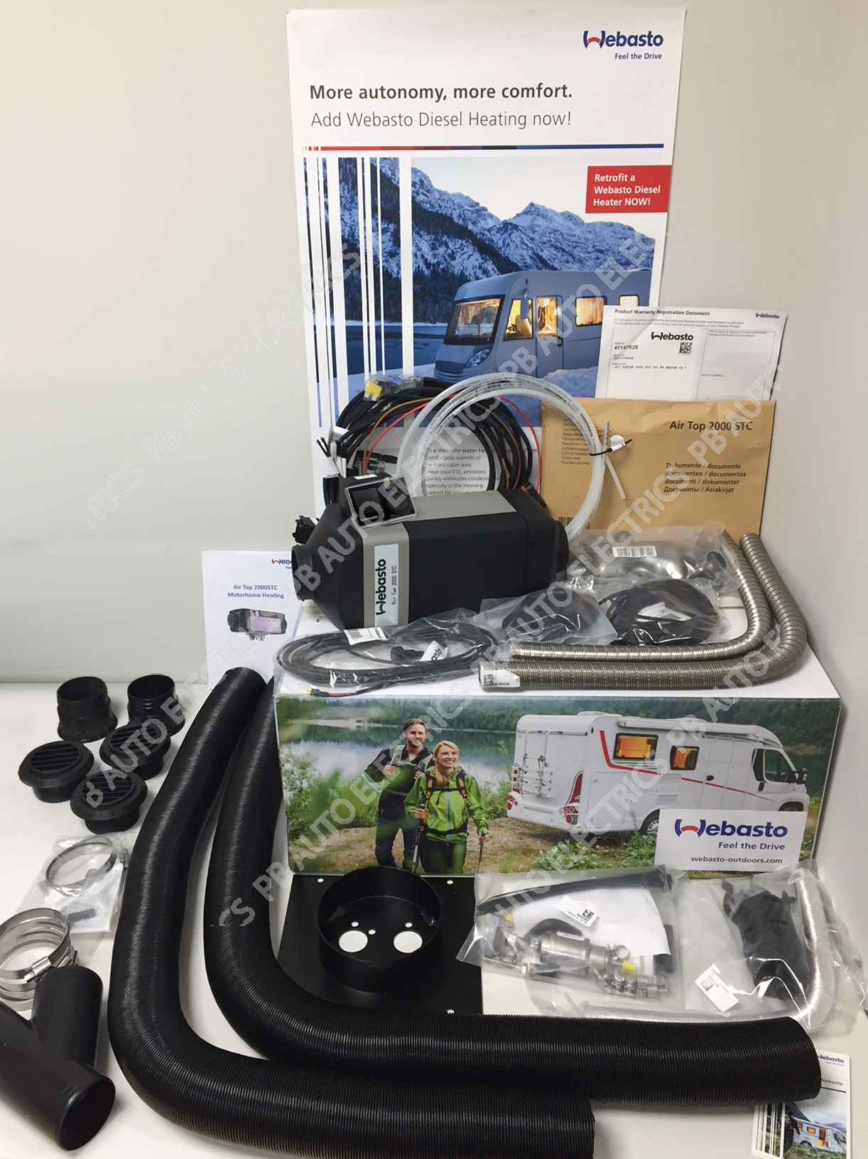 wholesale dealer 08a45 e4b42 Details about 2019 Webasto Air Top 2000STC Multi Control 12v Motorhome  Diesel Heater 2 Outlet