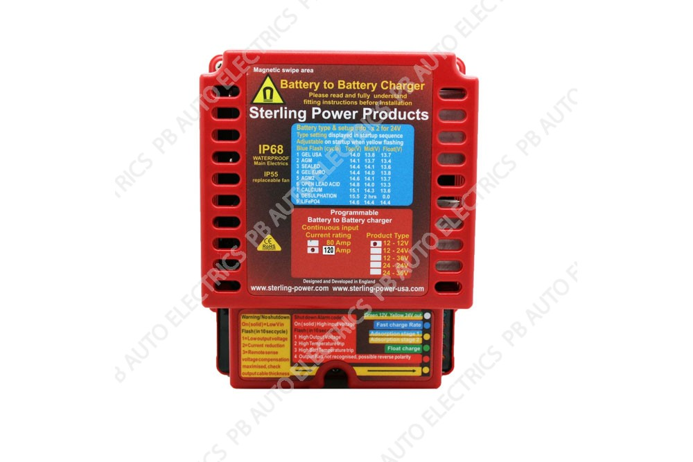 Sterling 12v In/12v Out 60A Input Battery to Battery Charger Waterproof IP68 - BBW1260