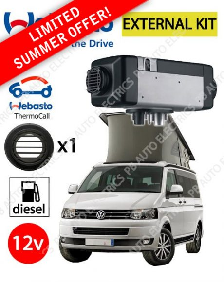 Webasto Air Top 2000 STC VW External Mount Air Heater Diesel 12v TC04 Thermocall Installation and 1 Outlet Ducting Kit - PB4112565G-TC