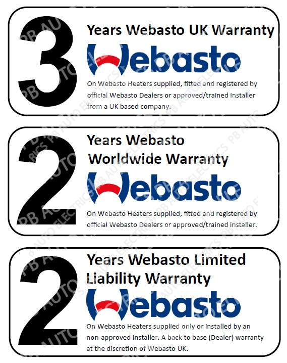 webasto warranty information