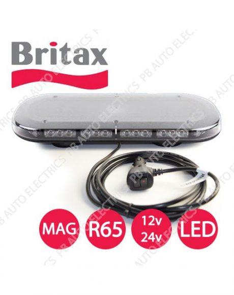 Britax A550 Series Amber LEDs Clear Lens R65 Magnet Minibar 12/24v - A554.00.LDV