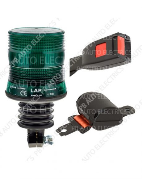 Securon Orange Seat Belt & Green LED Flexi DIN Beacon Kit 12/24v – PBLAP100
