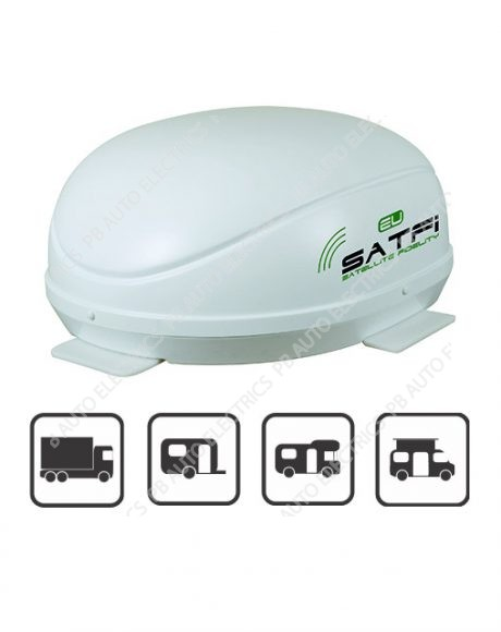 SatFi EU Fully Automatic Twin LNB High Gain Satellite Dome Auto Skew - 17-01-006-0