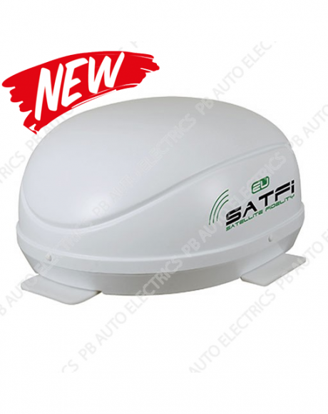 SatFi EU Fully Automatic Twin LNB High Gain Satellite Dome with Auto Skew - 17-01-006-0