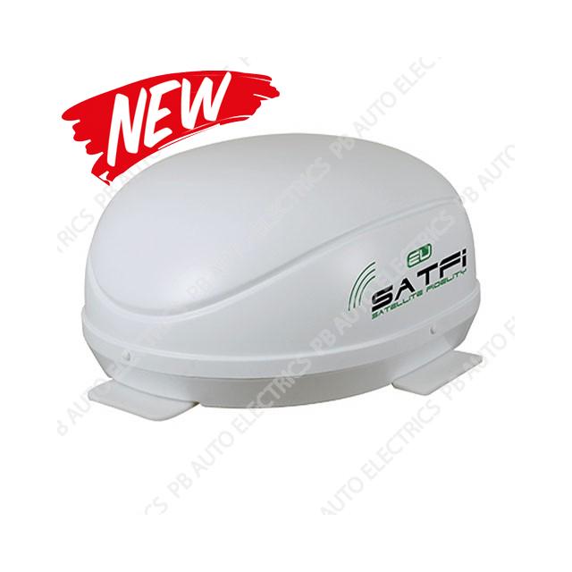 SatFi EU Fully Automatic Twin LNB High Gain Satellite Dome with Auto Skew - 17-01-006-0
