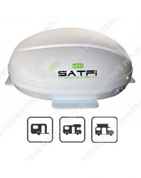 SatFi UK+ Ultra Slimline Static Twin LNB Satellite Dome – 17-03-026-0