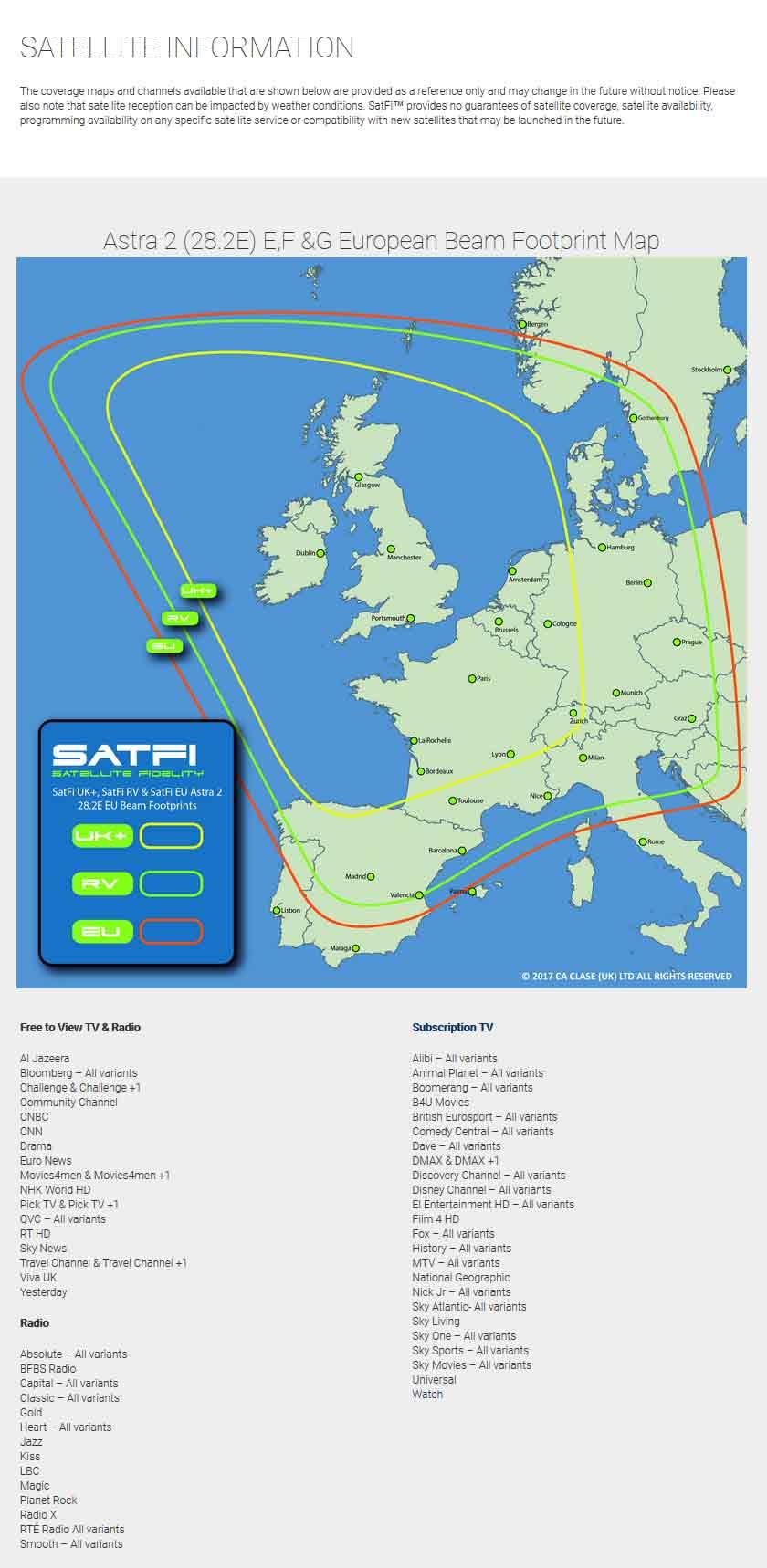 SatFi UK+ Ultra Slimline Static Twin LNB Satellite Dome - 17-03-026-0