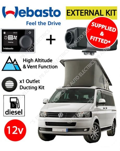 Webasto Air Top 2000 STC VW External Mount Air Heater Kit Multi Control - Supplied And Fitted - PB4112565G-MCRV(SF)