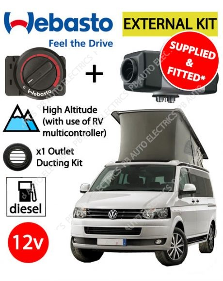 Webasto Air Top 2000 STC VW External Mount Air Heater Kit Rotary Supplied And Fitted - 4112565G(SF)