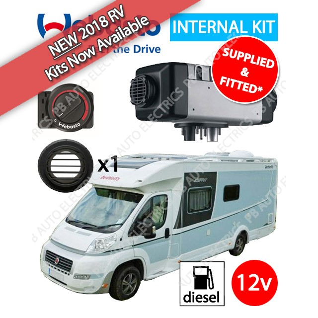NEW 2018 Webasto Air Top 2000 STC Motorhome Air Heater Kit Diesel 12v Rotary - Supplied And Fitted - 4114762B(SF)